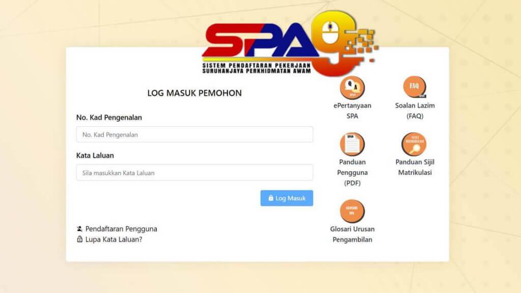 spa8i mohon kerja kerajaan