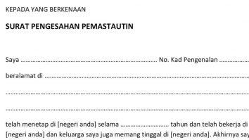 surat pengesahan pemastautin