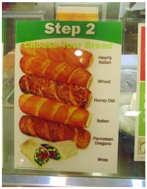 jenis roti subway