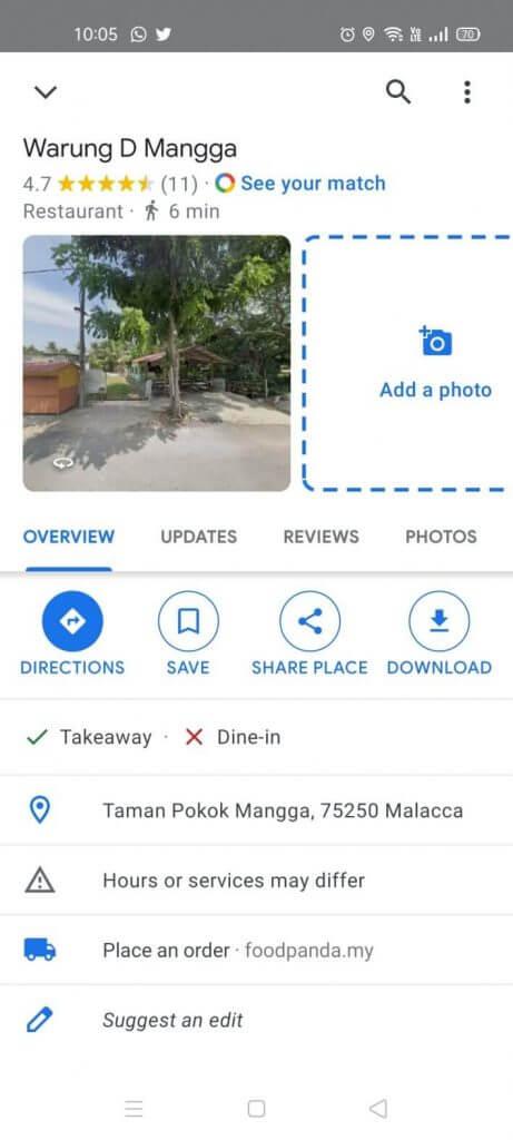 cara tambah lokasi kedai di google map