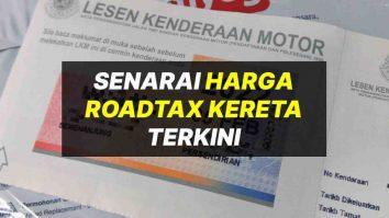 harga roadtax kereta